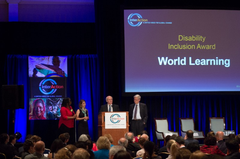 World Learning Receives Disability Inclusion Award at 2015 Interaction Forum