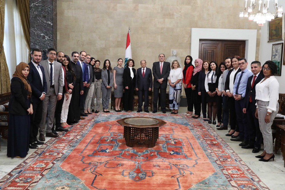 LDF Fellows Meet With Lebanese President to Discuss Critical Regional Issues